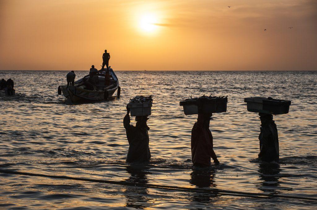 slow-fish-san-francisco-fishermen-standing-in-sea-at-sunset