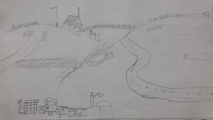 palestine-doha-zoumia-hills-slow-food-terra-madre-network-drawing