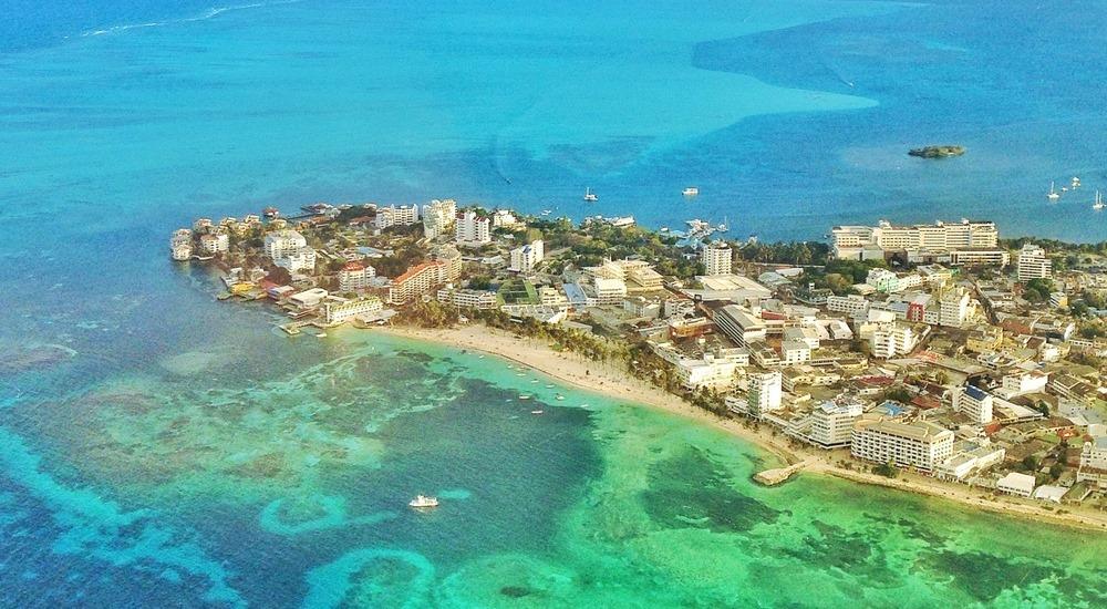 Desarrollo de la isla de San Andrés. Foto: cruisemapper.com