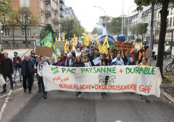 A Month of Actions for Good Food Good Farming Culminates with a Protest Event in Strasbourg