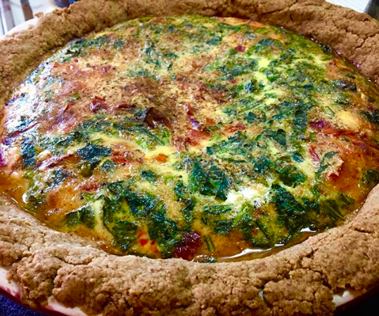 Slow Down for Meatless Monday with Quiche with Ingredients from your Fridge